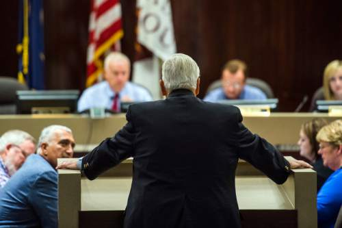 Chris Detrick  |  Tribune file photo Utah Transit Authority Board Chairman H. David Burton speaks during public comment at the Salt Lake County Government Center Tuesday August 4, 2015.