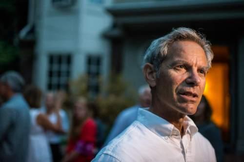 Chris Detrick  |  Tribune file photo Salt Lake City Mayor Ralph Becker talks to members of the media at his home in Salt Lake City Tuesday August 11, 2015.