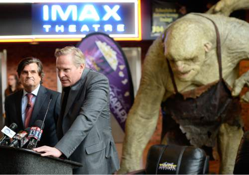 Francisco Kjolseth     Tribune file photo Trolls from the latest release of the Hobbit act as a backdrop for the date announcement of FanX by Bryan Brandenburg, left, and Dan Farr, co-founders of the Salt Lake Comic Con. Cosplayer fans were on hand for the Jan. 29-31 2015 press announcement, at the Megaplex 17 at Jordan Common in Sandy in 2014.