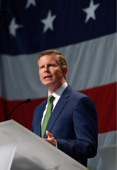 Leah Hogsten  |  Tribune file photo Governor candidate Jonathan Johnson said he is putting principle over prudence in trying to win his party's nomination at convention rather than through the new signature-gathering path opened by SB54.