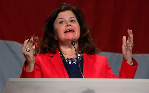 Leah Hogsten  | Tribune file photo Utah Republican Enid Micklesen, the GOP national committeewoman, has been named to lead the rules committee for the Republican National Convention. The panel will play a key role in any fight to change rules to avoid a Donald Trump nomination.