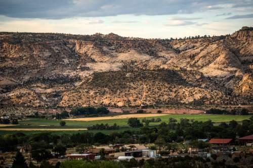 Chris Detrick     The Salt Lake Tribune An overview of Escalante Wednesday July 29, 2015.