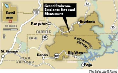 Monumental point of contention The Grand Staircase-Escalante National Monument is the focal point of debate among the region's residents, some of whom decry what they see as a death knell for towns, while others see opportunity knocking as a tourism draw.