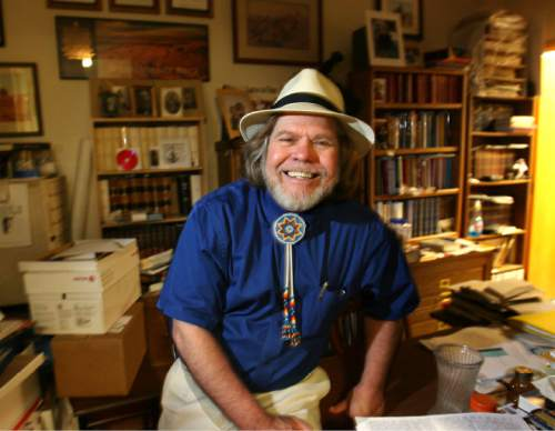 "Steve Griffin  |  The Salt Lake Tribune  Will Bagley published ""So Rugged and Mountainous"" a history of the Oregon and California trails 1812-1848. It's the first volume in a projected four-volume series, published by University of Oklahoma Press. Here Bagley is photographed in his Salt Lake City office Tuesday Jul 20, 2010."