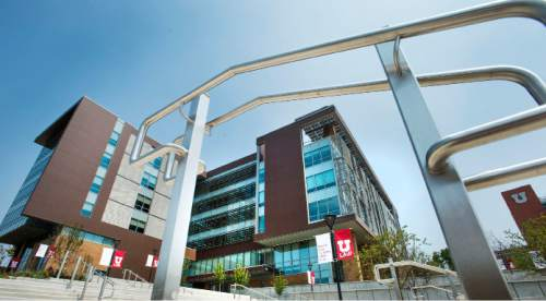 Steve Griffin  |  The Salt Lake Tribune  The University of Utah will celebrate the grand opening of its new $62.5 million College of Law building next week. Exterior view of the building on the campus of he University of Utah in Salt Lake City, Friday, August 21, 2015.