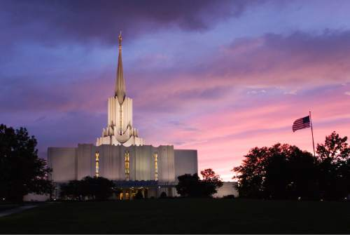 Courtesy  |  LDS Newsroom  The Jordan River LDS Temple.