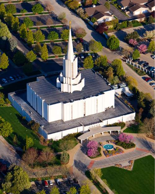 Courtesy of LDS Newsroom The Jordan River LDS Temple.