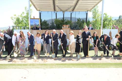 Courtesy | Intellectual Reserve, Inc.  Mormon faithful gather to break ground on the new Cedar City Utah Temple.