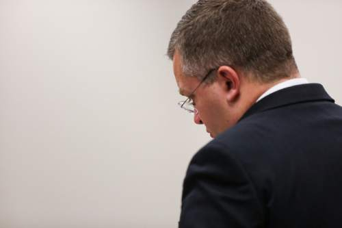(Spenser Heaps  |  Pool) Prosecuting attorney Craig Johnson appears during Conrad Truman's sentencing at 4th District Court in Provo on Monday, Feb. 9, 2015. Truman was sentenced to consecutive sentences of 15 years to life for murder and one to 15 years for obstruction of justice in the 2012 shooting death of his wife Heidy Truman.