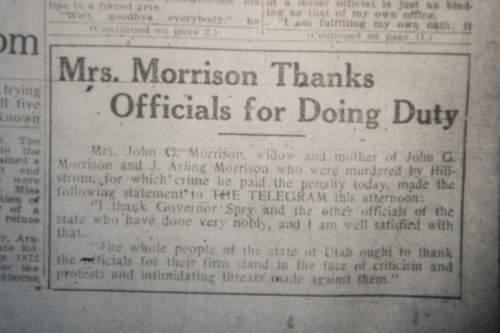 Trib Talk: Joe Hill and the Morrisons - The Salt Lake Tribune