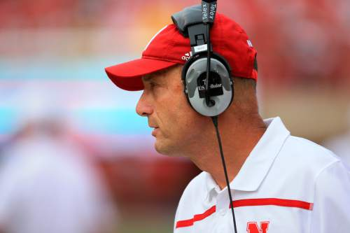 Nebraska head coach Mike Riley follows the first half of an NCAA college football game against BYU in Lincoln, Neb., Saturday, Sept. 5, 2015. (AP Photo/Nati Harnik)