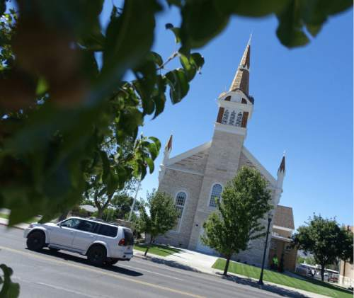 Lennie Mahler  |  The Salt Lake Tribune  The newly-restored LDS Tabernacle on Main Street in Manti, Utah, on Friday, Sept. 11, 2015. The Tabernacle will be open to the public for viewing Saturday and Sunday from 3-7 p.m.