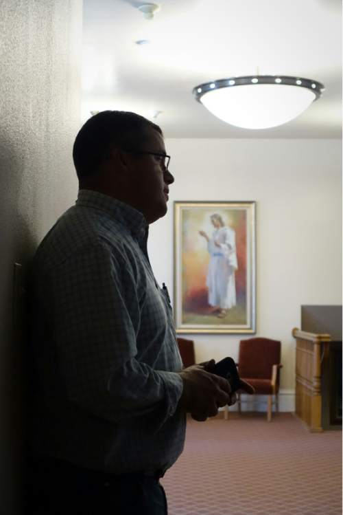 Lennie Mahler  |  The Salt Lake Tribune  Facilities manager Matt Christensen tours the newly-restored LDS Tabernacle on Main Street in Manti, Utah, on Friday, Sept. 11, 2015. The Tabernacle will be open to the public for viewing Saturday and Sunday from 3-7 p.m.