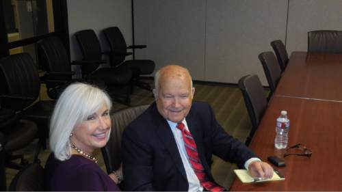 Pat and Dan Jones are being honored this week by the Utah Foundation for their long service in public-opinion polling, public service and teaching.  Courtesy photo