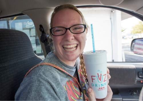 Rick Egan  |  The Salt Lake Tribune  Emily Croft stops by Fiiz in Bountiful for a soda, Friday, August 14, 2015.