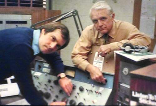 "|  Courtesy photo   Lynn Lehman with KCPX general manager Harold ""Hack"" Woolley in the station's heyday in the 1970s."