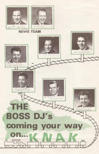 |  Courtesy photo   A chart showing the KNAK radio lineup in the 1960s.