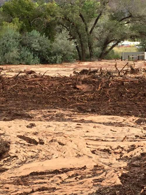 Courtesy  |  Guy Timpson  Flash flooding in Hildale, Utah, caused at least six deaths Monday, Sept. 14, 2015.