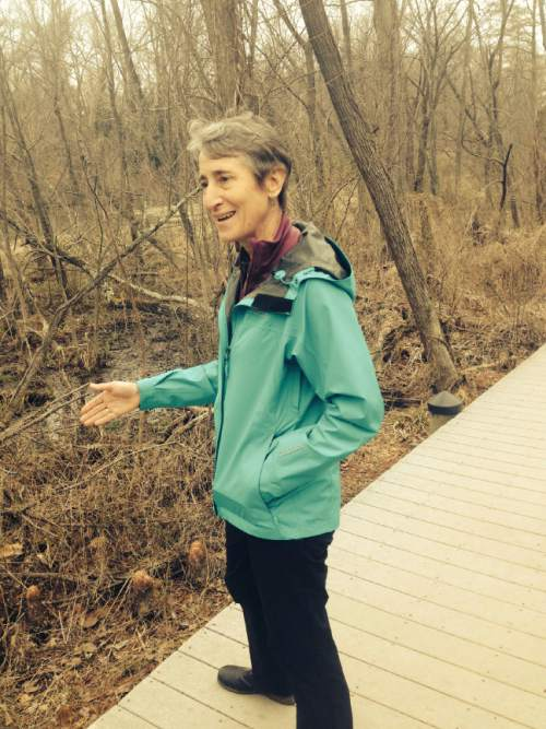 Thomas Burr  |  The Salt Lake Tribune  Interior Secretary Sally Jewell talks about her first year in office -- where she oversees millions of acres of public lands -- during an interview with The Salt Lake Tribune. The interview took place on Theodore Roosevelt Island, a national park in Virginia dedicated to the memory of the 26th U.S. president whose left a legacy of conservation and preservation.