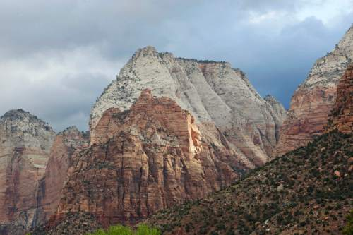 Zion National Park is shown Wednesday, Sept. 16, 2015, near Springdale, Utah. Authorities are searching for four people still missing after flash flooding killed several people in a Utah-Arizona border community and others in  Zion National Park.  (AP Photo/Rick Bowmer)