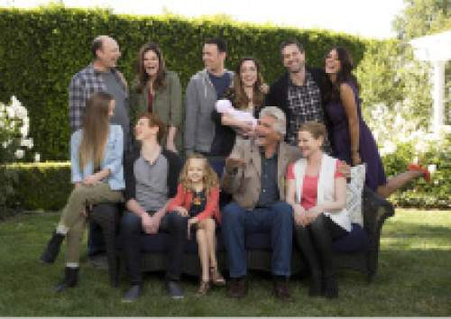 "Cliff Lipson  |  CBS  ""Life In Pieces"" features (top row from left) Dan Bakkedahl as Tim, Betsy Brandt as Heather, Colin Hanks as Greg, Zoe Lister Jones as Jen, Thomas Sadoski as Matt and Angelique Cabral as Colleen; (bottom row from left)Holly Barrett as Samantha, Niall Cunningham as Tyler, Giselle Eisenberg as Sophia, James Brolin as John and Diane Wiest as Joan."