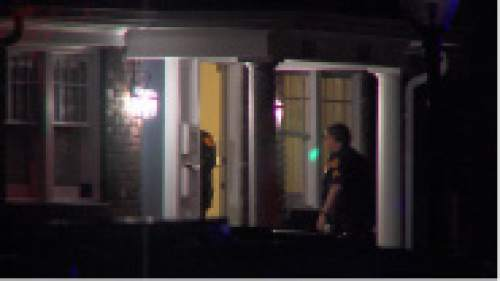 Courtesy     KUTV News  A man who allegedly broke into two homes and stabbed a woman was shot and killed by Salt Lake City police early Wednesday.