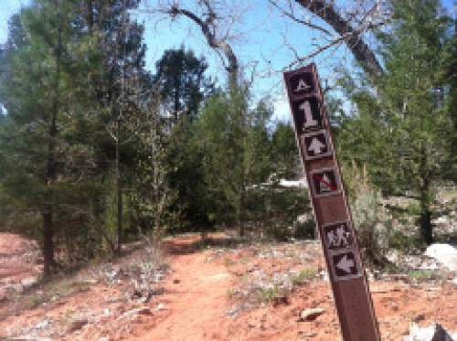 Nate Carlisle  |  The Salt Lake Tribune  A sign, as seen on April 21, 2014,  denotes the first backcountry camp site on the LaVerkin Creek Trail in Zion National Park.