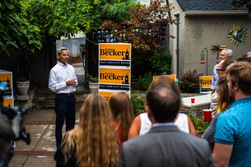 Chris Detrick     Tribune file photo Salt Lake City Mayor Ralph Becker on Monday called a news conference to talk about his support from the environmental community and push back against criticisms from his challenger, Jackie Biskupski.