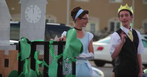 Courtesy  |  Copper Hills High School  Disney-themed floats at Copper Hills High School's homecoming parade Thursday.