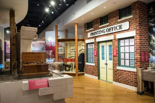 Chris Detrick  |  The Salt Lake Tribune Exhibits inside the renovated LDS Church History Museum in Salt Lake City Tuesday September 29, 2015.  The LDS Church History Museum is re-opening after a year-long renovation on Wed, Sept 30.