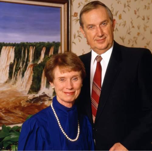 photo courtesy The Church of Jesus Christ of Latter-day Saints  Elder Richard G. and sister Jeanene Scott, 1980s.