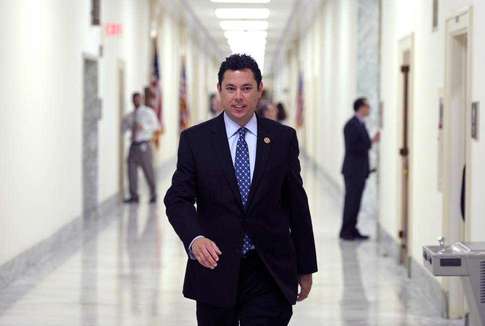 Cliff Owen |  AP File Photo House Oversight and Government Reform Committee member Rep. Jason Chaffetz, R-Utah, arrives at the committee's offices on Capitol Hill in Washington, a closed-door session. This file photo was taken before Chaffetz ascended to chairmanship of the committee.