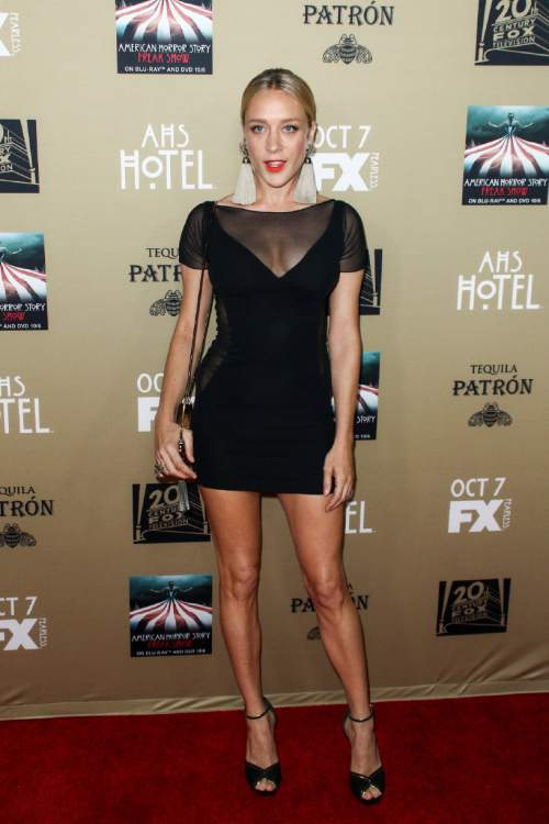 """Chloe Sevigny attends the LA Premiere Screening of """"American Horror Story: Hotel"""" held at Regal Cinemas L.A. Live on Saturday, Oct. 3, 2015, in Los Angeles. (Photo by John Salangsang/Invision/AP)"""