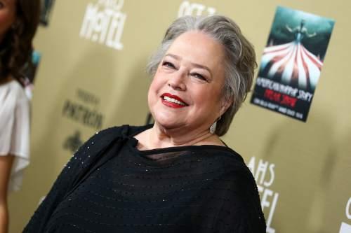"""Kathy Bates attends the LA Premiere Screening of """"American Horror Story: Hotel"""" held at Regal Cinemas L.A. Live on Saturday, Oct. 3, 2015, in Los Angeles. (Photo by John Salangsang/Invision/AP)"""