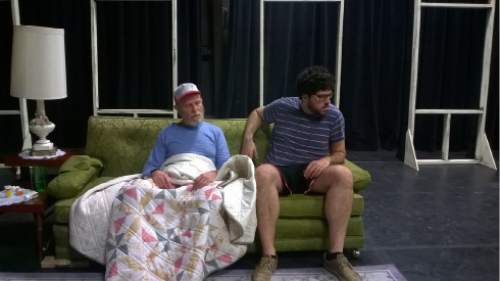 Courtesy photo  Andrew Maizner as Dodge and Aaron Kramer as Vince.