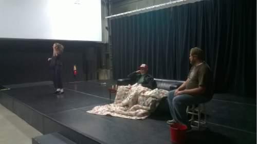 Courtesy photo  Barb Gandy as Halie, Andrew Maizner as Dodge, Justin Bruse as Tilden.