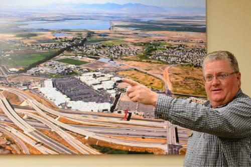Trent Nelson  |  The Salt Lake Tribune David Anderson, general manager at Station Park in Farmington, talks about the development's expansion plans, Tuesday August 25, 2015. Station Park is a mixed-use, transit-oriented development next to the UTA commuter rail station in Farmington.