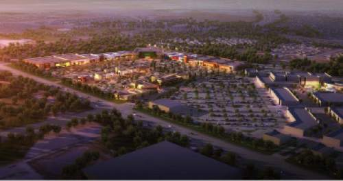 Courtesy of CenterCal Properties An early conceptual rendition of a new shopping  center planned for the west side of Riverton, an 85-acre retail and office development to be called Mountain View Place at Riverton.