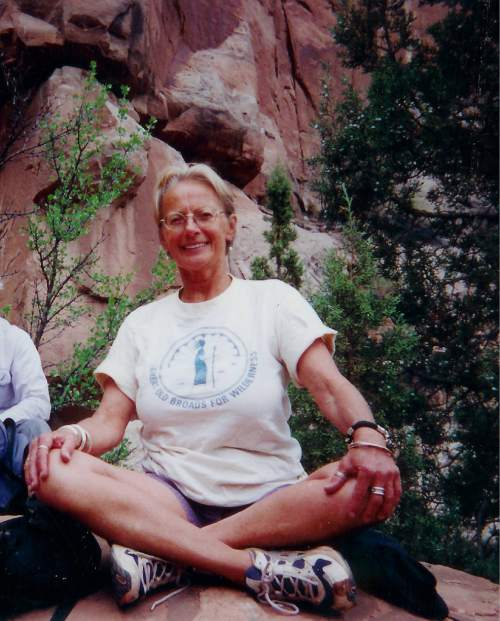 Courtesy  |  Ray Bloxham, Southern Utah Wilderness Alliance.  Activist Susan Tixier, founder of Great Old Broads for Wilderness, died last week at age 73.