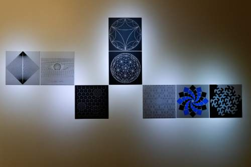 """Francisco Kjolseth   The Salt Lake Tribune The work of artist and architect Anna Campbell Bliss, who mixed art and science in her work, can be seen at the Cowles Mathematics Building on the University of Utah campus with her piece entitled, """"Extended Vision."""""""