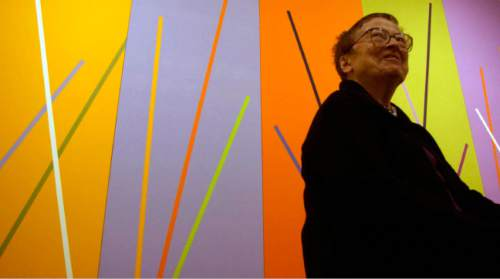 Tribune file photo The art of  Anna Campbell Bliss during a 2004 exhibit at the Utah Museum of Fine Arts. The acclaimed Utah artist died this week at age 90.