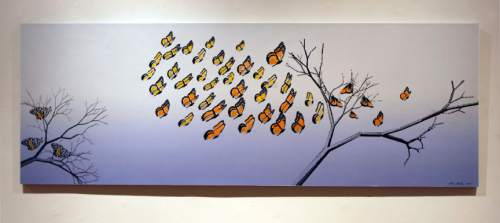Tribune file photo Butterfly Landing I, 2009, Digital print and oil on Rives paper by Anna Bliss. The acclaimed Utah artist died this week at age 90.