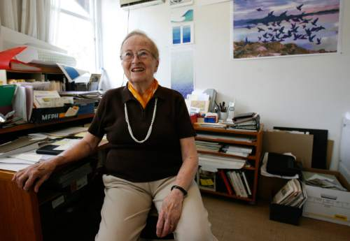 Tribune file photo  Anna Bliss is pictured in her home office in 2009. The acclaimed Utah artist died this week at age 90.
