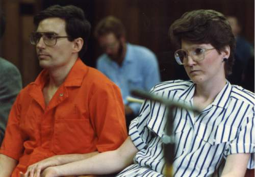 Tribune file photo Mark and Doralee Hofmann attend board of pardons hearing in this undated photo.