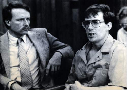 Tribune file photo Defense attorney Brad Rich, left, and confessed bomber Mark Hofmann appear before the Utah Board of Pardons where Hofmann was told he would spend the rest of his natural life in prison for the Oct. 15, 1986 bombing deaths of two Salt Lake City-area residents