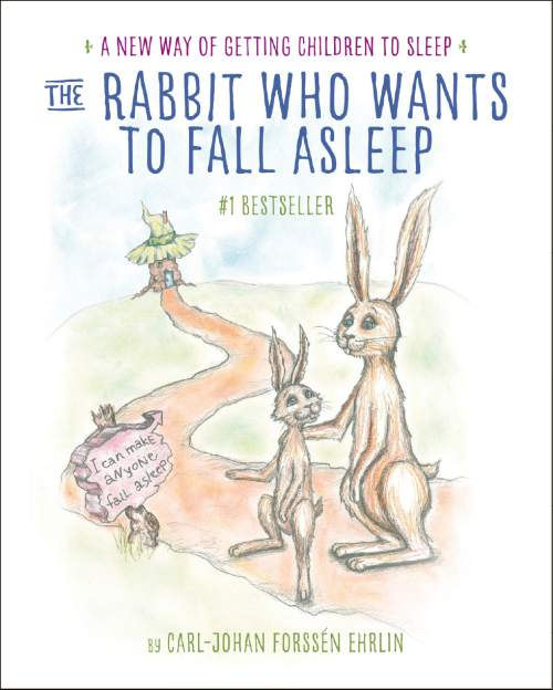 "This book cover released by Crown Books for Young Readers shows ""The Rabbit Who Wants to Fall Asleep: A New Way of Getting Children to Sleep,"" by Carl-Johan Forssén Ehrlin, with illustrations by Irina Maununen. (Crown Books for Young Readers  via AP)"