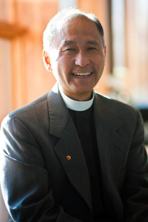 Chris Detrick  |  The Salt Lake Tribune  The Rev. Scott Hayashi poses for a portrait at the  Episcopal Church Center of Utah Wednesday October 20, 2010. Hayashi will be consecrated bishop of Utah's Episcopal Diocese on Nov. 6.