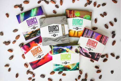 Courtesy photo  Durci is a new line of Utah chocolates bars made with beans sourced from Ecuador, Dominican Republic, Peru and Venezuela.