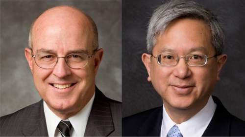 Courtesy  |  Intellectual Reserve  Elder L Whitney Clayton and Elder Gerrit W. Gong