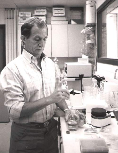 |  Tribune File Photo  Dr. Mario R. Capecchi, professor of Biology, University of Utah, 1987.